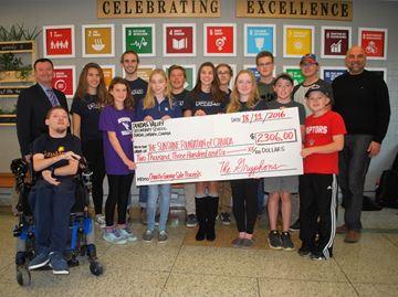 Leadership students donate