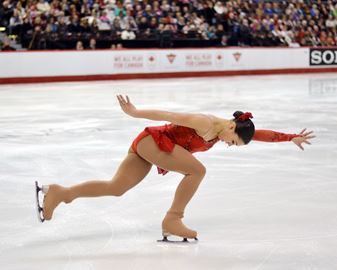 Newmarket's Gabrielle Daleman competes in the short program figure skating event at the Canadian Tire Centre in Ottawa on Jan. 10. Daleman, who trains at the Richmond Hill Figure Skating Club, competed in the national championship and Olympic Trials event, where she placed second. The silver finish was enough to land the 16 year old a spot on the Olympic team.