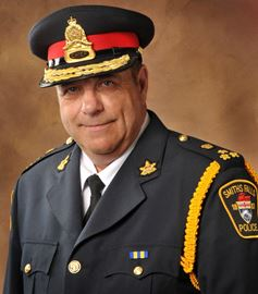Larry Hardy is pictured here as the former police chief for Smiths Falls