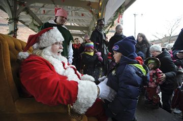 Santa held court in the Junction on Saturday, during the annual Santa in the Junction event hosted by the Junction BIA. (Dec. 1, 2012)