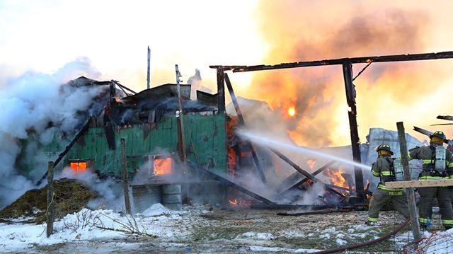 Animals perish in barn fire