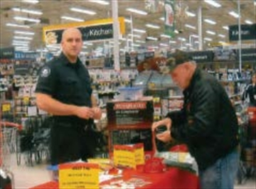 Canadian Tire Belleville hosted the Firefighter Toy Drive this past month, raising over $1,000 in donations and toys with the help of Belleville firefighter Ryan Turcotte.