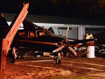 Serious damage to Burlington Airpark