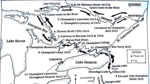 Tracking Samuel de Champlain's routes in the Kawarthas ... on jacques cartier route map, john cabot, francis drake, champlain explorer map, james cook route map, la salle route map, william penn, giovanni da verrazano, william clark route map, québec, ferdinand magellan, columbus route map, jacques cartier, etienne brule route map, henry hudson, estevanico route map, jean nicolet route map, walter raleigh, quebec city, canada route map, john rolfe, christopher columbus, john rae route map, amerigo vespucci route map, james cook, marco polo, giovanni verrazano route map, leif ericsson route map, treaty of paris, hernán cortés, henry kelsey route map, henry hudson route map, vasco da gama, hernando de soto, george washington route map, louis jolliet, sir alexander mackenzie route map, louisiana route map, juan rodríguez cabrillo route map,