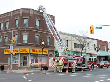 Tottenham variety store building damaged by high winds