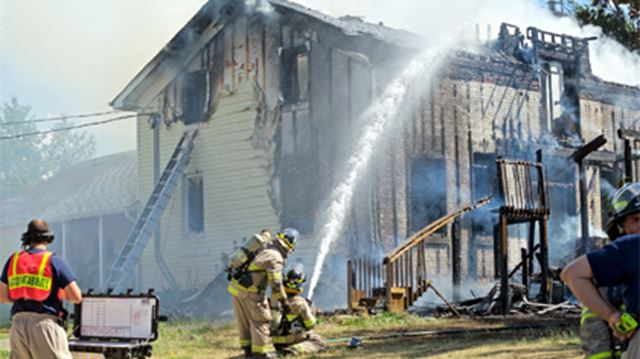 Blaze ignited Saturday afternoon