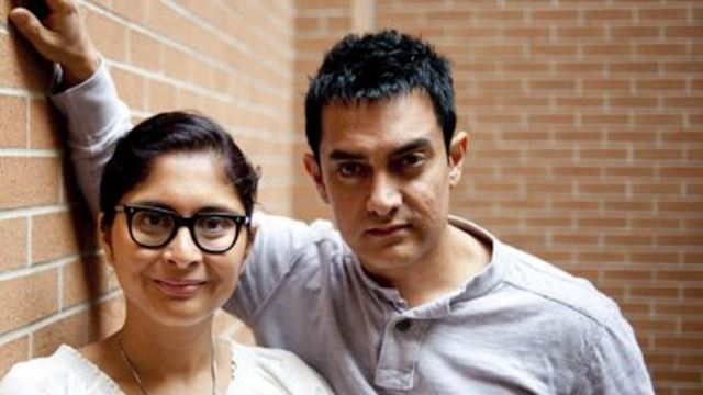 Aamir Khan (right) and his wife, Kiran Rao, were at the Toronto International Film Festival in 2010 for their movie, Dhobi Ghat.