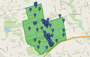Ward 23 Willowdale voting locations