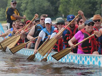 West Carleton Dragon Boat races