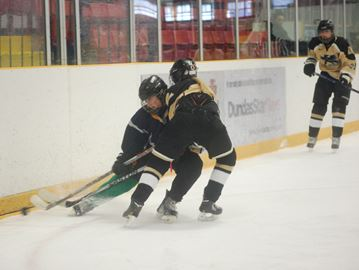 Hamilton public high school division I girls hockey action
