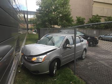 Car crashes into side of Burlington Performing Arts Centre