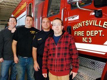 Huntsville/Lake of Bays firefighters are challenging the Bracebridge firefighters in a Movember challenge to see who can raise the most money. The team that raises the least amount of money will be taking a polar dip.
