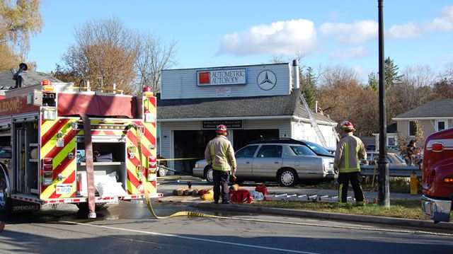 Updated crews battle fire at bolton auto body shop for Irwin motors body shop