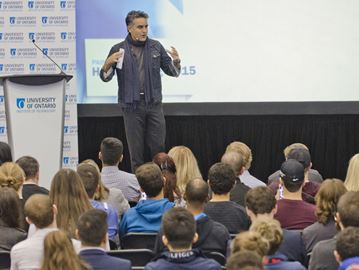 Bruce Croxon at UOIT Homecoming