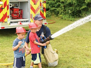 Tiny Township firefighters in training?