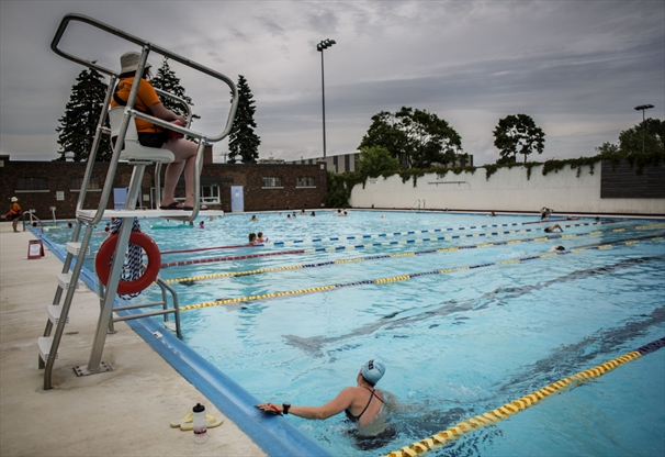 city to repair harry class pool building