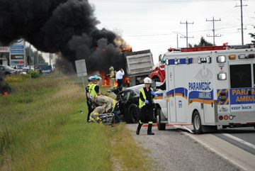 Innisfil teen in dump truck crash released from hospital