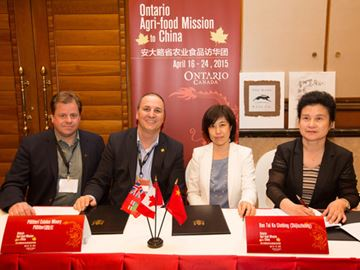 Pillitteri part of expansion of province's wine exports to China
