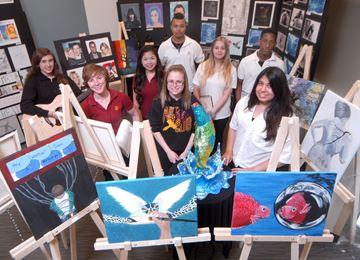 St. Jean de Brebeuf students at 7-5-1 Create