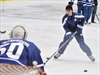 Justin Bieber took part in a practice at the Air Canada Centre with the Toronto Maple Leafs on Wednesday.