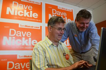Dave Nickle opens campaign office