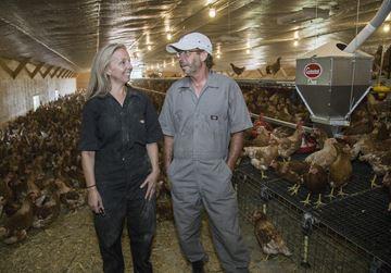 Egg farmers Janet and Hank John Reinink
