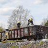 RAIL CAR FIRE IN HUNTSVILLE