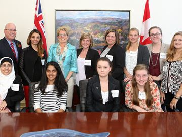 Girls' Government group meets Ontario premier