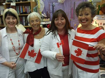 Green Again turns red and white in advance of Orillia's Canada Day