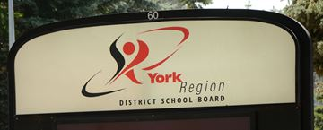 York Region District School Board sign