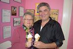 Free ice cream cones at Lois 'n Frima's ice cream parlour in Stittsville on Halloween, Oct. 31