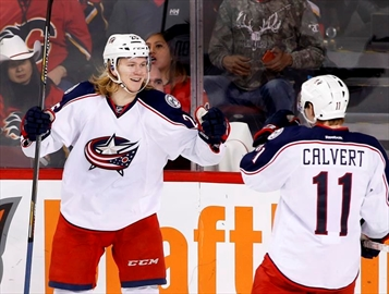 Karlsson scores twice, Jackets beat Flames-Image1