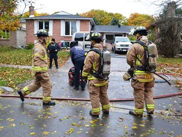 House fire on Lillian Crescent