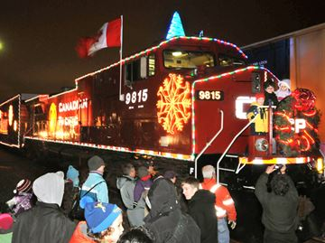 Toot, toot! It's the CP Holiday Train