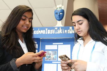 Hetta Patel and Mausam Patel, Grade 9 students at Gordon Graydon Memorial Secondary School, were one of 98 teams at the Peel Region Science Fair competition on Saturday, April 11. The compettion took place at Louise Arbour Secondary School in Brampton, and 10 students will move on to the nataional competition in Windsor next month.