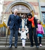 New Democratic Party leader Jack Layton, left, walks hand-in-hand with his wife Olivia Chow and their granddaughter Beatrice after voting in Toronto, Ont., on Monday, May 2. Their daughter Sarah follows. Sapphire Newman-Fogel, 9, right, accompanies Olivia