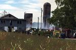 Crews fight farm fire