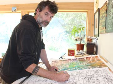 Dunedin artist's latest project all about staying inside the lines