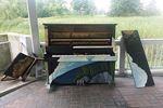 Public piano vandalism