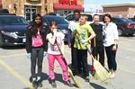 Students helping keep downtown Alliston clean