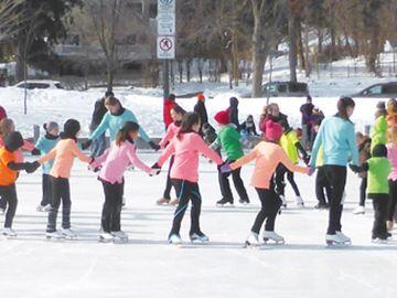 Skating demonstration