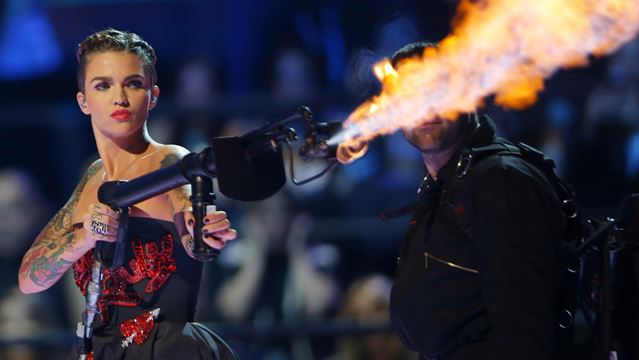 Ruby Rose Ruby Rose Joins Resident Evil The Final: Ruby Rose Battling Ripped Muscle At MTV EMAs