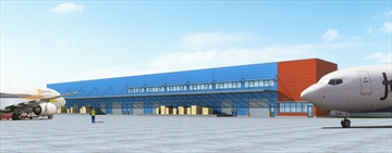 Rendering of the new air cargo logistics facility at Hamilton International Airport