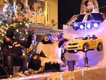 The Wacky Kutz 4 Kidz float won as most enthusiastic during the 39th annual JCI Brantford Santa Claus Parade on Saturday night.