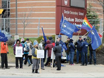 Durham public high school teachers' strike