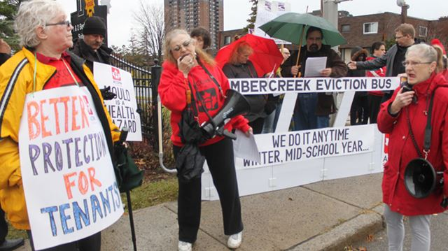 Ottawa Community News: Protestors rally against winter eviction of