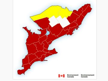 Environment Canada issues heat warning