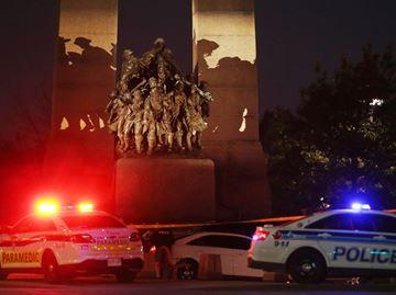 War Memorial at night
