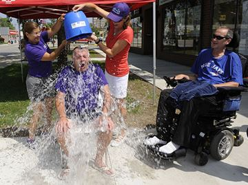 Oakville MPP Kevin Flynn chills out with the ALS ice bucket challenge