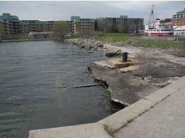 Marine museum crumbling wharf